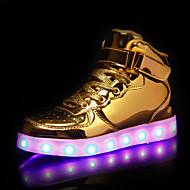 tanie Obuwie chłopięce-Dla chłopców / Dla dziewczynek Obuwie Syntetyki Jesień i zima Świecące buty Adidasy LED na Dzieci / Dla nastolatków Złoty / Srebrny / Różowy