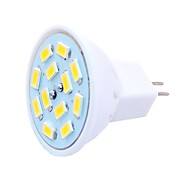 billige Spotlys med LED-SENCART 6pcs 6W 450lm G4 / MR11 LED-spotpærer MR11 12 LED perler SMD 5730 Dekorativ Varm hvit / Kjølig hvit 12-24V