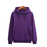 Men's Basic Long Sleeve Hoodie - Solid Colored Hooded Gray XL