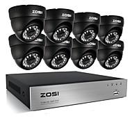 cheap DVR Kits-ZOSI® 8CH 720P HDMI CCTV System Video Recorder 1TB 4PCS 720P Home Security Camera Waterproof Surveillance Kits