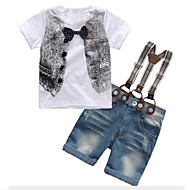 Djeca Dječaci Aktivan / Ulični šik Dnevno / Izlasci Print Mašna Kratkih rukava Regularna Umjetna svila Komplet odjeće Obala