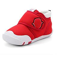 baratos Sapatos de Menina-Para Meninos / Para Meninas Sapatos Com Transparência Primavera & Outono Primeiros Passos Tênis Velcro para Bebê Vermelho / Azul / Rosa Claro