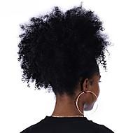 Klem In / Op Paardenstaart Geurvrij / Geschenk / Voor donkere huidskleur Mensen Remy Haar / Echt haar Haar stuk Haarextensies Gekruld Volle-Lengte  Dagelijks