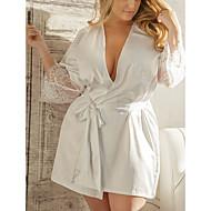 Žene Veći konfekcijski brojevi Super seksi Potkošulja / ogrtač / Odijelo Noćno rublje - Čipka, Plus veličine Jednobojni / Duboki V