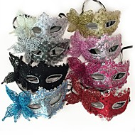 cheap -Princess Mask / Venetian Mask / Half Mask Sexy / Princess Lolita Pink / Fuchsia / Silver Plastics / Lace Party Cosplay Accessories Halloween / Carnival / Masquerade Costumes