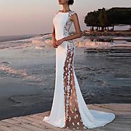 Kadın's Parti İnce Kılıf Elbise - Solid, Dantel Maksi / Sexy