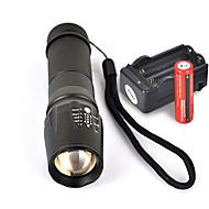 UltraFire W-878 Latarki LED LED Cree® XM-L T6 1 Emitery 1800 lm 5 tryb oświetlenia z bateriami i ładowarką Uchwyt antypoślizgowy Kemping / turystyka / eksploracja jaskiń Do użytku codziennego