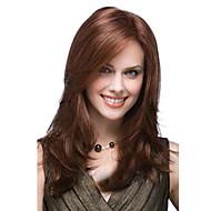 Wig Accessories Žene Ravan kroj / Loose Curl Smeđa Stražnji dio Sintentička kosa 53 inch Žene Smeđa Perika Srednji duljina Pola Capless Smeđe / Burgundija