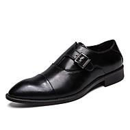 tanie Obuwie męskie-Męskie Komfortowe buty PU Wiosna Casual Oksfordki Antypoślizgowe Czarny