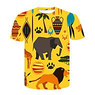 חיה / אנימציה סגנון רחוב טישרט - בגדי ריקוד גברים דפוס אריה
