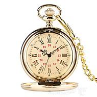 בגדי ריקוד גברים שעון כיס קווארץ זהב שעונים יום יומיים אנלוגי וינטאג' יום יומי - מוזהב