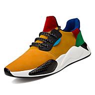 Homme Chaussures de confort Polyuréthane Printemps Décontracté Chaussures d'Athlétisme Marche Respirable Blanc / Noir / Jaune