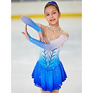 Vestito da pattinaggio artistico Per donna Da ragazza Pattinaggio sul ghiaccio Vestiti Blu pallido tintura sfumata Elastene Elevata elasticità Competizione Vestiti da pattinaggio sul ghiaccio Fatto a