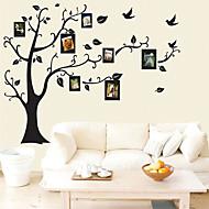 Autocollants muraux décoratifs - Autocollants avion A fleurs / Botanique Salle de séjour / Chambre à coucher / Salle de bain
