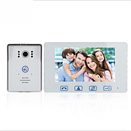 billige Dørtelefonssystem med video-Factory OEM Med ledning 7 tommers Håndfri 800*480 pixel En Til En Video Dørtelefon