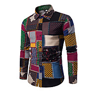 رجالي قميص أناقة الشارع بقع ألوان متناوبة