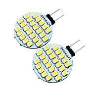 baratos Luzes LED de Dois Pinos-2pcs 2 W 200 lm G4 Luminárias de LED  Duplo-Pin T 24 Contas LED SMD 3528 Decorativa Branco Quente / Branco Frio 12 V / 2 pçs / RoHs