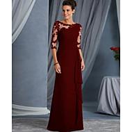 Γυναικεία Πάρτι Βασικό Δαντέλα Θήκη Φόρεμα - Μονόχρωμο Γεωμετρικό, Δαντέλα Patchwork Μακρύ Ψηλή Μέση / Sexy