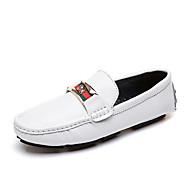 Heren Mocassin PU Lente & Herfst Informeel / Brits Loafers & Slip-Ons Wandelen Non-uitglijden Wit / Zwart / Feesten & Uitgaan
