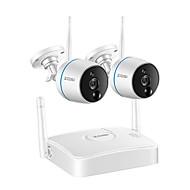 tanie Zestawy z rejestratorem sieciowym (NVR)-zosi cctv system kamer bezpieczeństwa 1080p zestaw wifi mini nvr nadzór wideo bezprzewodowa kamera ip, funkcja pir, nagrywanie karty sd