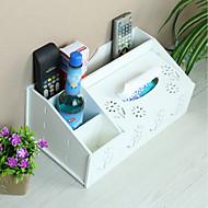 billige Lagring og oppbevaring-Oppbevaring Organisasjon Kosmetisk Makeup Organizer PVC skum styret Rektangelform Kreativ / Flerlags / Støvtett