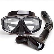 WATERTIME® Snorkelsets - Duikmasker Snorkel - Anti-condens Antislip Verstelbaar Duiken Snorkelen PVC (Polyvinylchlorid) / Siliconen  Voor Volwassenen / Dry top