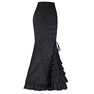 Γυναικεία Εφαρμοστό Μακρύ Φούστες - Μονόχρωμο / Λεπτό