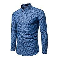 남성용 도트무늬 셔츠 면 / 긴 소매