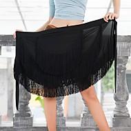 Λάτιν Χοροί Παντελόνια Φούστες Γυναικεία Επίδοση Mohair Φούντα Χαμηλή Μέση Φούστες