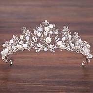 Aliaj Diademe cu Perlă Artificială / Detalii Cristal 1 Bucată Nuntă / Ocazie specială Diadema