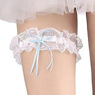 Lace Basic / Bridal Wedding Garter With Bowknot / Crystals / Rhinestones Garters Wedding / Party