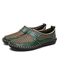 Ανδρικά Δερμάτινα παπούτσια Δέρμα / Δίχτυ Καλοκαίρι / Ανοιξη καλοκαίρι Βίντατζ / Καθημερινό Μοκασίνια & Ευκολόφορετα Μη ολίσθηση Καφέ / Πράσινο Χακί / Μπλε
