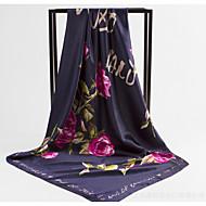 สำหรับผู้หญิง ลายดอกไม้ พู่ ผ้าพันคอสี่เหลี่ยม
