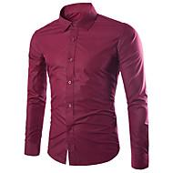 Skjorte Herre - Ensfarget Forretning / Grunnleggende