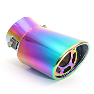 Embout de silencieux de tuyau d'échappement arrière de voiture d'échappement universel en acier inoxydable de 60mm