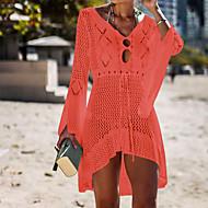 Women's Basic Orange Skirt Cover-Up Swimwear - Solid Colored One-Size Orange