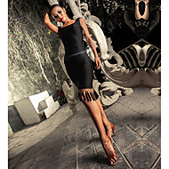 cheap -Latin Dance Dresses Women's Performance Spandex Tassel / Split Joint Sleeveless Dress