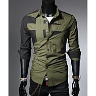 남성용 컬러 블럭 셔츠 루비 XL