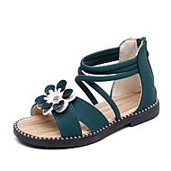 Fille Chaussures Polyuréthane Eté Chaussures de Demoiselle d'Honneur Fille Sandales Fermeture pour Enfants / Bébé Blanc / Vert