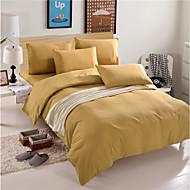 布団カバーセット ソリッド / 中国風 / 現代風 ポリ / コットン 先染 4個Bedding Sets