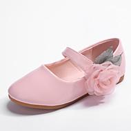 Para Meninas Sapatos Couro Ecológico Primavera / Outono Conforto / Sapatos para Daminhas de Honra Rasos Flor para Infantil / Bébé Branco / Rosa Claro / Festas & Noite