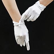 טול אורך פרק כף היד כפפה כפפות / אלגנטית עם דמוי פנינה / גדילים (פרנזים) / קצוות