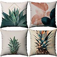 4.0 pcs Coton / Lin Taie d'oreiller, arbres / Feuilles Motif Avec motifs Tropical