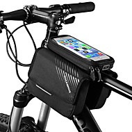 ROCKBROS Cell Phone Bag / Bike Frame Bag 6 inch Touch Screen, Portable Cycling for iPhone X / iPhone XR / iPhone XS Black