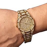 Муж. Нарядные часы Японский Кварцевый Нержавеющая сталь Серебристый металл / Золотистый / Розовое золото 30 m Секундомер Повседневные часы Милый Аналоговый Роскошь Элегантный стиль -  / Два года