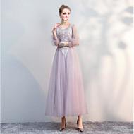 Pouzdrové Královna Anna Long Length Tyl Šaty pro družičky s Sklady podle LAN TING Express