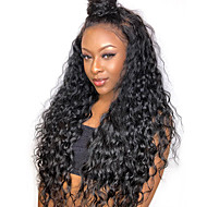 Remy Human Hair Full Lace Wig Side Part Kardashian style Brazilian Hair Curly Wig 250% Density 12-24 inch with Baby Hair Natural Hairline Pre-Plucked Bleached Knots Natural Women's Human Hair Lace Wig