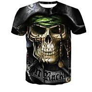 Puszysta T-shirt Męskie Okrągły dekolt 3D