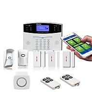 pirワイヤレス盗難防止警報システムgsmホーム警報ドアと窓検出警報ios / android
