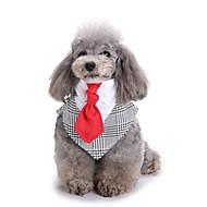 Dogs Ornaments Tie / Bow Tie Dog Clothes Plaid / Check Zebra Black Grid Terylene Costume For Corgi Beagle Bulldog Spring, Fall, Winter, Summer Male Party / Evening Stylish